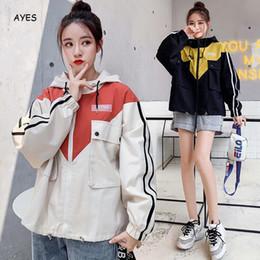 $enCountryForm.capitalKeyWord Australia - Korean Style Hooded Jacket Women Long Sleeve Pockets Design 2019 Autumn Patchwork Hoodies Coat Zipper Harajuku Oversized Outwear