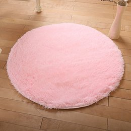 Round Bedside Tables Australia - Round carpet silk wool living room coffee table carpet bedroom bedside computer chair hanging basket yoga mat