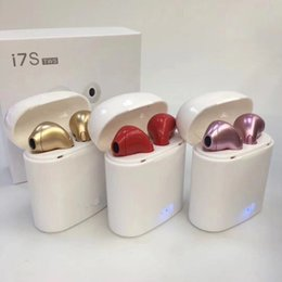 twins for sale UK - I7S TWS Wireless Bluetooth Headphones Earbuds Earphones with Charging Box Twins New Mini for iPhone 7S X with Retail Factory direct sale