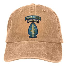 29a179290c8 2019 New Cheap Baseball Caps US AIR Force Special Forces Airborne Mens  Cotton Adjustable Washed Twill Baseball Cap Hat