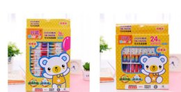 Crayons Paintings Australia - Hexagonal oil painting stick color oil painting stick non-toxic multicolor children painting pen baby crayons stationery