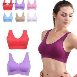 girls free shipping bra NZ - Girls Women Padded Seamless Bra Wireless Vest Non-Convertible Straps Tops Rimless Bras Plus Size Drop Shipping Good Quality
