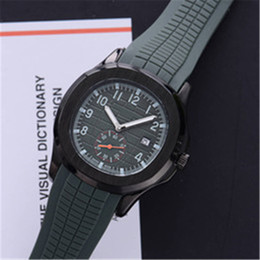 mens silicone sport watch Canada - Top Seller Sport Aquanaut 43mm Quartz Mens Watch Silicone Rubber Strap High Quality Watches 17 Colors BAIDAFEILI