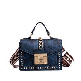 Designer Stud Handbags NZ - New 2019 Classic Designer Studs Tote Satchel With Chains Women Pu Leather Handbag Ladies Messenger Bag For Female Bolsas An1094