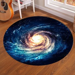 Discount galaxy round - Galaxy Earth Moon Round Carpet Non-Slip Floor Rugs Yoga Mat For Bedroom Living Room Play Karpet Computer Chair Hang Bask