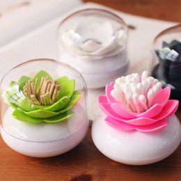 $enCountryForm.capitalKeyWord NZ - tackle Hoomall Creative Lotus Toothpicks Holder Cotton Swab Cotton Bud Holder Case Table Decorate Storage Box Organizer 8cm