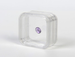 $enCountryForm.capitalKeyWord Australia - 40*40mm Transparent Floating Display Case Earring Gems Ring Jewelry Suspension Packaging Box PET Membrane Stand Holder