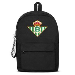 $enCountryForm.capitalKeyWord NZ - Real Betis Los Verdiblancos RBB Free Shipping Women Men Canvas School Student Backpack Lightweight Travel Backpack Printing Backpac