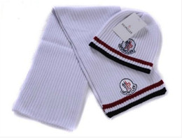 cotton scarves for sale NZ - Winter Hot sale scarves hats sets knitted warm brand hat and scarf sets for men women m pattern letter print m699