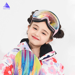 Ski goggleS kidS online shopping - VECTOR Kids Ski Goggles Big Spherical for Children Double Layers UV400 Magnetic Ski Glasses Girls Boys Snowboard Goggles Eyewear