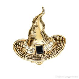 $enCountryForm.capitalKeyWord Australia - 10pcs Witch Hat Shaped Brooches Pins Women Men for League of Legend of Lulu Style Brooch Needle Unisex Gift Wholesale
