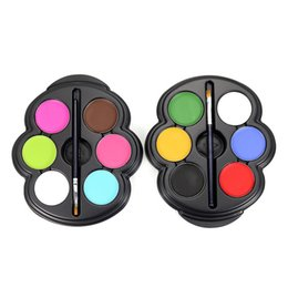 $enCountryForm.capitalKeyWord Australia - Private Label Body Paint 6 Color Eye Paint Makeup Palette UV Glowing Face Painting Temporary Tattoo Pigment Best Multicolor Series Body Arts