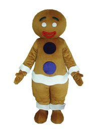 ingrosso costumi a tema uomini-Halloween Gingernut Mascot Costume Top Quality Cartoon Gingersnap Man Anime personaggio tema Natale Carnevale Party Fancy Costumes
