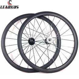 $enCountryForm.capitalKeyWord Australia - LEADXUS Full Carbon Fiber 38MM Clincher Tubular Roue Velo Fixed Bicycle Wheel Fixed Gear 700C Carbon Track Bike Wheels