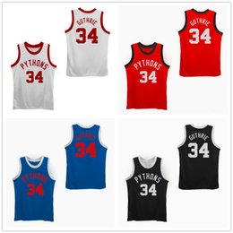 pittsburgh custom 2019 - Pittsburgh Pythons The Fish That Saved Pittsburgh Julius Erving Moses Guthrie #35 Basketball Jerseys Mens Stitched Custo