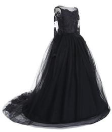Long Sleeve Full Length Dresses UK - Cute New Kids Dress Lace Long Sleeve Full Length Pageant Gown Long Tulle Flower Girl Dress Formal