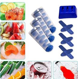 Wholesale Mighty Freeze Reusable Ice Maker Tool Spiral DIY Silicone Ice Mould Anti Tip Portable Tubes Ice Cream Makers Popsicle Molds