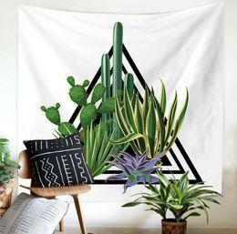 $enCountryForm.capitalKeyWord UK - 3D Cartoon Cactus Wall Art Hanging Tapestry Home Curtain Partition Decor