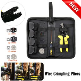 hot terminal NZ - 2019 New Multifunction Wire Crimper kit Engineering Ratchet Terminal Crimpling Pliers Set 4 in 1 Cable Wire Crimper hot sale