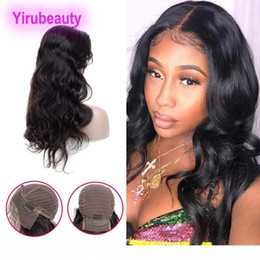 straight human hair half wigs NZ - B Brazilian Virgin Hair 13x4 Lace Front Wig Straight Body Wave Indian Human Hair 8 -30inch Natural Black Pre Plucked Lace Front Wigs