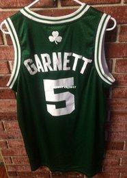 Green Basketball Shirts NZ - Cheap wholesale Kevin Garnett Jersey Men Green Road Pierce Bird AD #5 T-shirt vest Stitched Basketball jerseys Ncaa