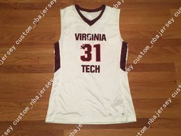 f09cecb9240e Cheap custom Virginia Tech Countdown Digital Basketball Jersey White Stitched  Customize any number name MEN WOMEN YOUTH XS-5XL