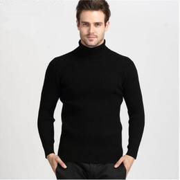 Wholesale cashmere mens black sweaters for sale – oversize Fashion Winter Thick Warm Cashmere Sweater Men Turtleneck Mens Sweaters Slim Fit Pullover Men Classic Knitwear Pull Homme