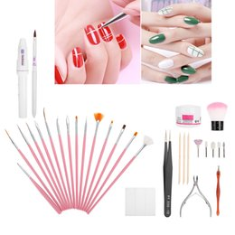 professional art kits NZ - Professional Nail Cuticle Trimming Grinder Pusher Fork Set Gel Brushes Kit Stainless Steel Manicure Pedicure Nail Art Tools Kits