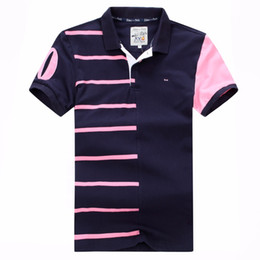Wholesale french clothing sizes online – design hot Selling summer Eden park Short Polos For Men home classic striped clothing french Design embroidery shorts plus size xxx