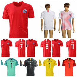 a826e5dcd 2018 2019 Chile Soccer Jersey Men 7 SANCHEZ 8 VIDAL 11 VARGAS 17 MEDEL  Football Shirt Uniform Custom Name Number Red White