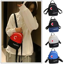 $enCountryForm.capitalKeyWord Australia - 5 colors Champion Letter Printed backpacks Mini Sports Travel shoulder bag Women Crossbody Chest Waist bag Fanny Packs Rucksack DHL JY270