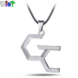 anime pendants cosplay 2019 - Cartoon Anime Guilty Crown GC Necklace Metal Pendant My Dearest Cosplay Fans Gifts Fashion Jewelry For Man Woman irregul