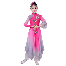 girls chinese costumes Australia - Girls classical dance costumes new style children's elegant fan dance clothes Chinese style Yangko clothing
