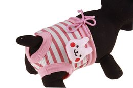 $enCountryForm.capitalKeyWord NZ - 10PCS Pets Dog Diapers Cute Cartoon Pants Female Dog Diapers Washable Physiological Pants For Pets Underwear Puppy Diaper 4 Sizes 5 Colors