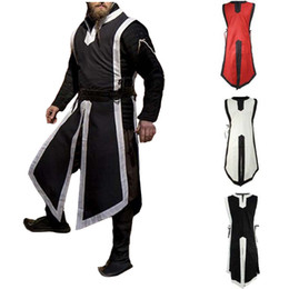 medieval renaissance clothing UK - 2018 Adult Men Medieval Costume Archer Warrior Hero Cosplay Clothes Outfit Roman Solider Armor Armour Knight Stage Cos Clothing