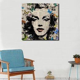 canvas print painting marilyn monroe NZ - Marilyn Monroe Portrait HD Art Canvas Poster Painting Wall Picture Print Home Bedroom Decoration