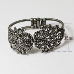 Blank cuff Bracelets online shopping - Women DIY Bracelet Vintage Bronze Metal Bangle Blank Findings Tray Bezel Setting Cabochon Bracelets