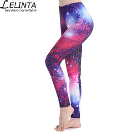 16409b6c085 LELINTA Digital Purple Leggings Space Printed Pants High Waist Elastic Slim Sexy  Women Galaxy Leggings Plus Size S-4XL  73663