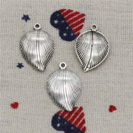 $enCountryForm.capitalKeyWord Australia - 190pcs Charms leaf 23*15mm Pendant, Tibetan Silver Pendant,For DIY Necklace & Bracelets Jewelry Accessories
