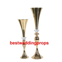 $enCountryForm.capitalKeyWord UK - New style Crystal Gold Candle Holders Party Road Lead Table Candelabra Stand Wedding Pillar Candlestick Flowers best0527