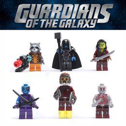 $enCountryForm.capitalKeyWord Australia - Movie Guardians of The Galaxy Super Heroes Building Blocks DIY Toy Star-Lord Gamora Rocket Raccoon Nebula Marvel Figure Christmas Juguetes