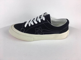 Wholesale golf discounts for sale - Group buy Black Canvas Sneaker One Star X Golf New Casual Shoes Low Top Shoes Cheap Discount Suede Leather Sneaker With box receipt bag