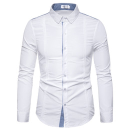 $enCountryForm.capitalKeyWord Australia - shirts men dress summer plus size Button Long Sleeve Shirt Fashion Blouse Top white Social Business Dress Shirt camisa masculina