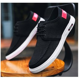 $enCountryForm.capitalKeyWord Australia - 2019 Canvas Shoes For Men Casual Shoes Male Low Flats Breathable Driving Sneakers Man Black Canvas Men