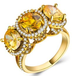 $enCountryForm.capitalKeyWord Australia - Wish women newest fashion jewelry zircon 18K gold lovers ring wedding engagement birthday festival gift