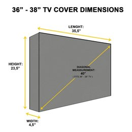 cars tv series NZ - Outdoor TV Cover, Panther Series Weatherproof Universal Protector for LCD, LED, Plasma Television Sets