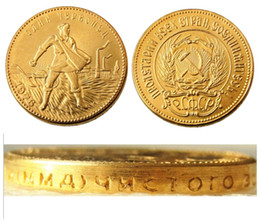 Russia Coin Australia - 1976 Soviet Russian 1 Chervonetz 10 Roubles CCCP USSR Lettered Edge Gold Plated Russia Coins COPY