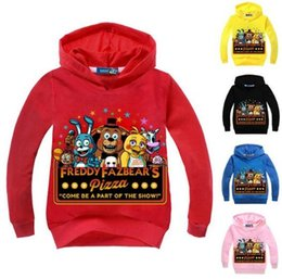 y hoodie Australia - Retail! Brand New five night at freddy kids hoodies fnaf boys Sweatshirts children clothing girl cartoon bear clothes for 2-14 Y