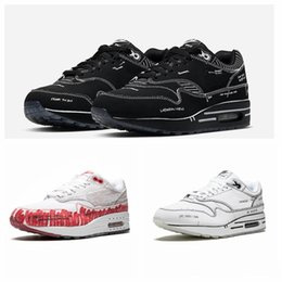 Maxes 1 Tinker Sketch To Shelf Men Womens Running Shoes Air Atmos Animal 1S Black White Red Hatfield signature Designer Sneakers CJ4286-101