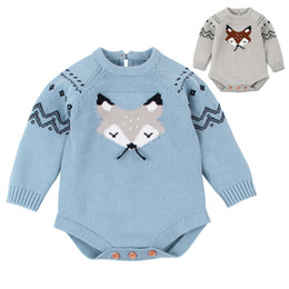Toddler Christmas Boy Australia - Christmas Knitted Baby Bodysuit Newborn Infant Toddler Hot Summer Body Child Kids for Boys Girls B0020 Body Suit Long Sleeve 2 Colors